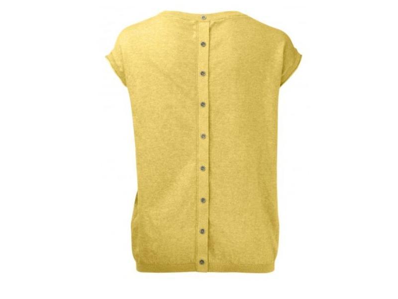 Yaya BASIC TEE BUTTONS GOLDEN SHINE MELANGE 004232-815