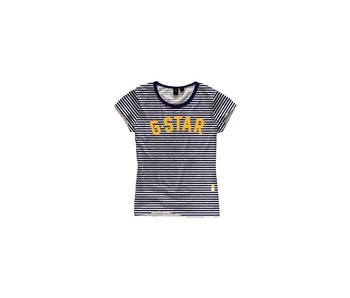 G-Star NY jersey submarine stripe wit D10972-a643-8260
