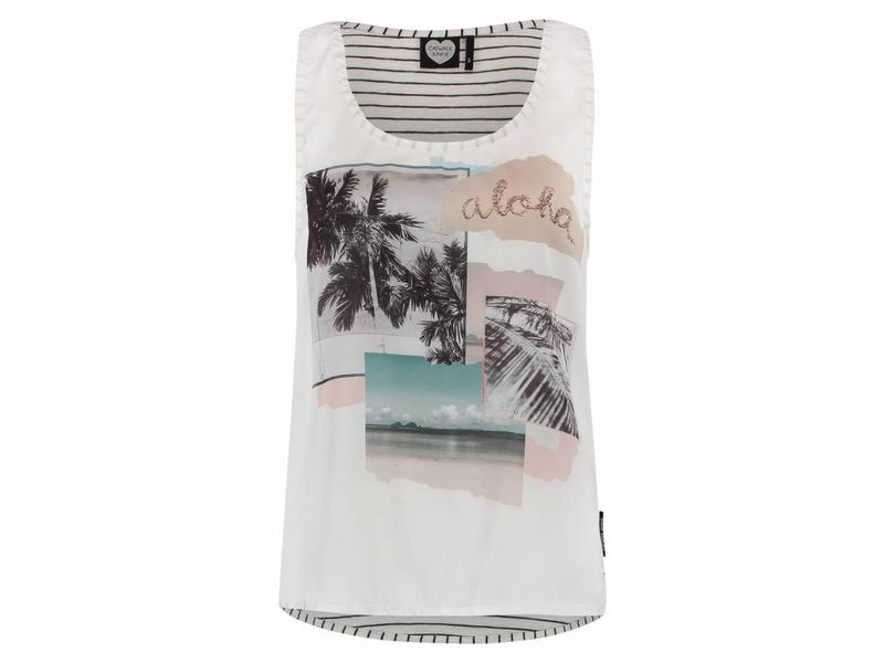 Tank top summer bay off white 1802020054