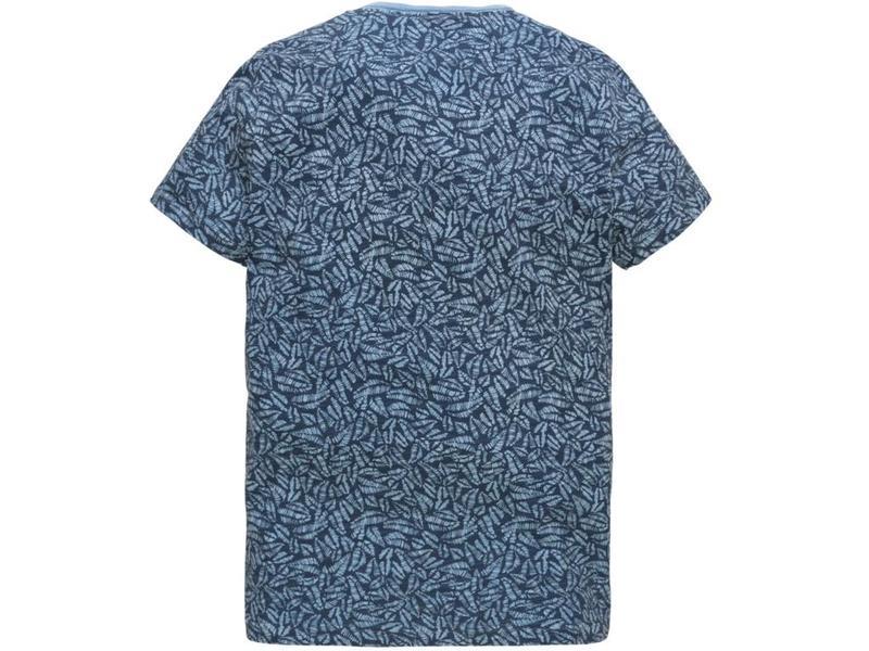 PME Legend Short sleeve v-neck Slub Jersey Sky Blue PTSS184533