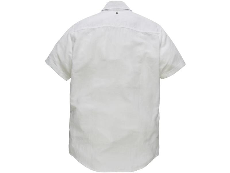 PME Legend Short Sleeve Shirt Linen Cargo Bright White PSIS184201