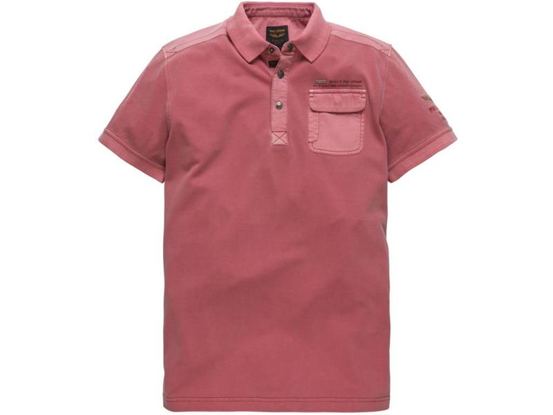 PME Legend Short sleeve polo Rugged Pique Mineral Red PPSS184864