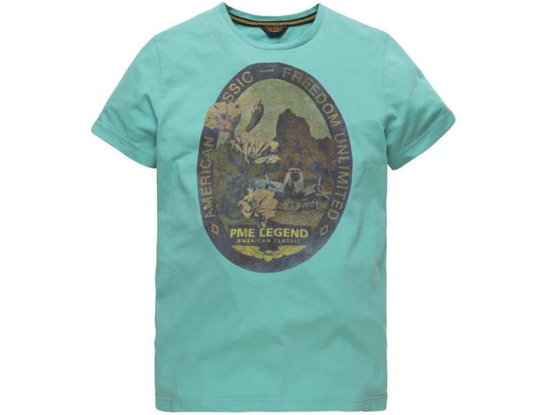 PME Legend Short sleeve r-neck Play LW T-Shirt Blue Turqoise PTSS184531