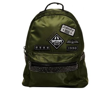 Superdry Midi patched backpack groen G91099NQ
