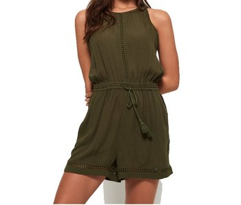 Superdry High neck playsuit groen G80061GQ