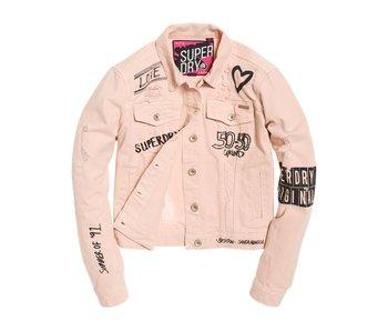 Superdry Girlfriend Jacket roze G50246FQ
