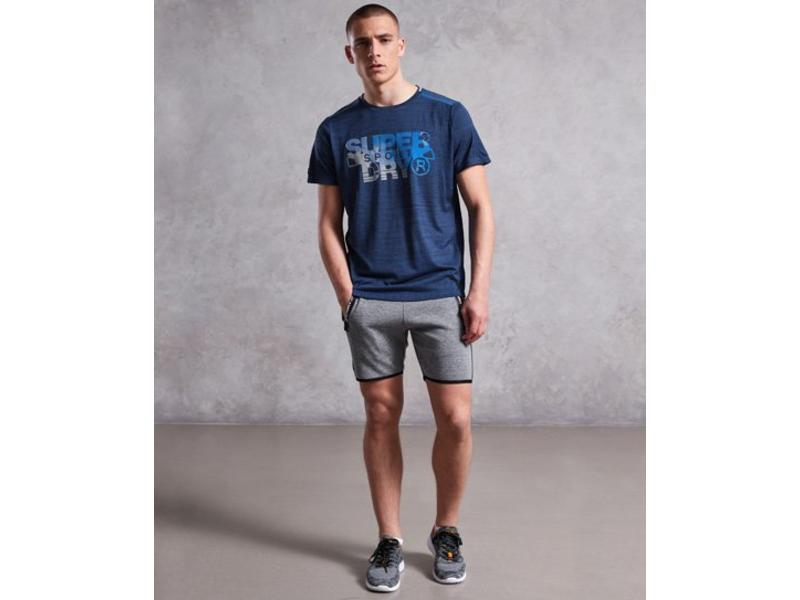 Superdry Active microvent graphic tee donkerblauw MS3016RQ