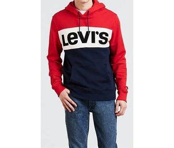 Levi's Colorblock hoodie rood 56613-0000