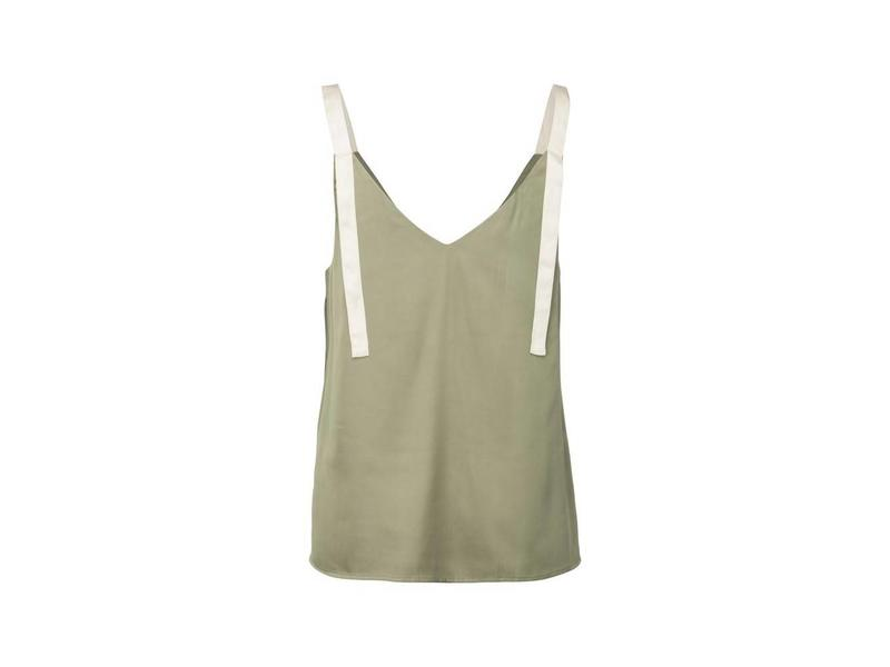 Yaya WOVEN TOP WITH STRAPS SAGE 012605-815