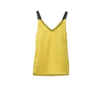 Yaya WOVEN TOP WITH STRAPS GOLDEN SHINE 012605-815