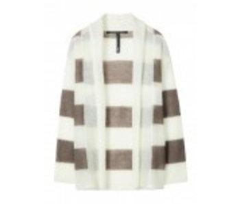 10Days Cardigan stripe off white 20-652-8101