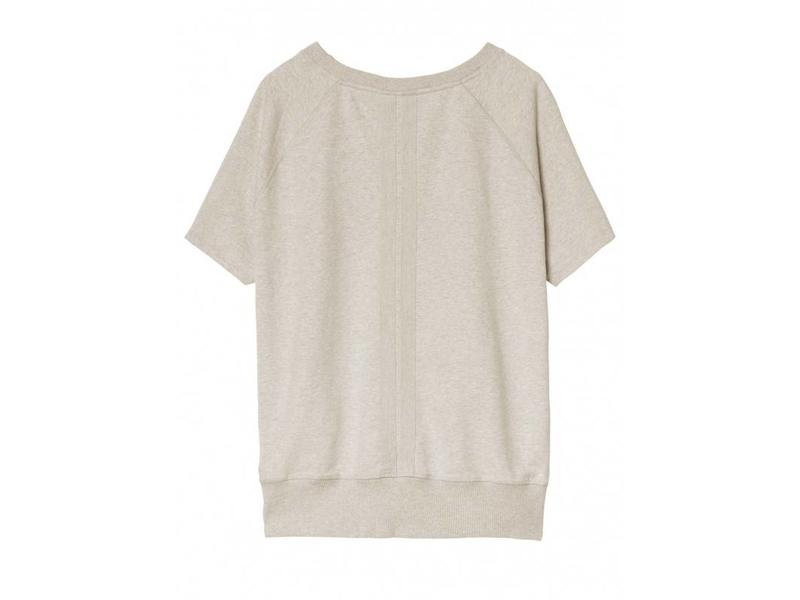 10Days Sweater short sleeve off white 20-808-8103