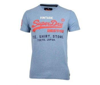 Superdry Shirt shop tri tee blauw M10008PQ