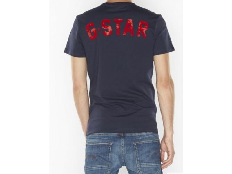 G-Star 09 rt s/s donkerblauw D10986-336-6067