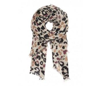 10Days Scarf blurry leopard ecru 20-922-8103
