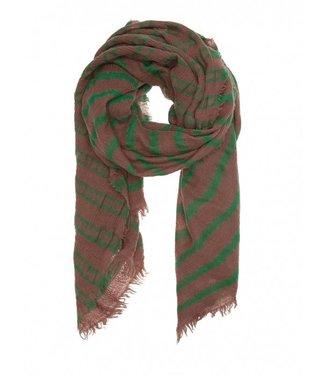 10Days Scarf tie dye stripe bruin 20-921-8103
