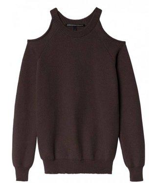 10Days Sweater open shoulders antraciet 20-641-8103