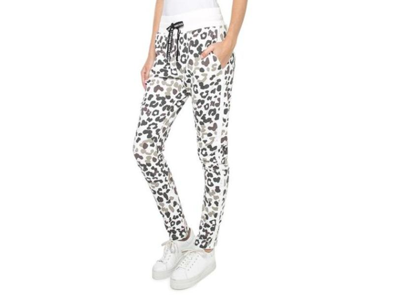 10Days Banana pants leopard blurry ecru 20-007-8103