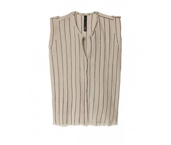 10Days Sleeveless blouse beige 20-404-8103