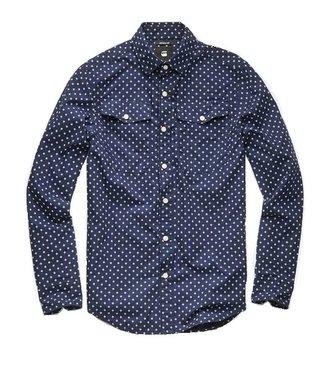 G-Star Bristum utility shirt l/s donkerblauw D10743-A585-8708