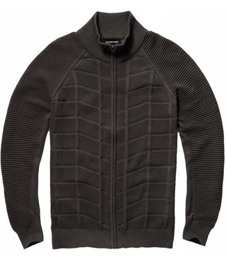 G-Star Suzaki moto zip through knit l/s donkergroen D10731-8403-995