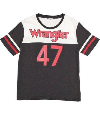 Wrangler Sports tee zwart w7391gfv6