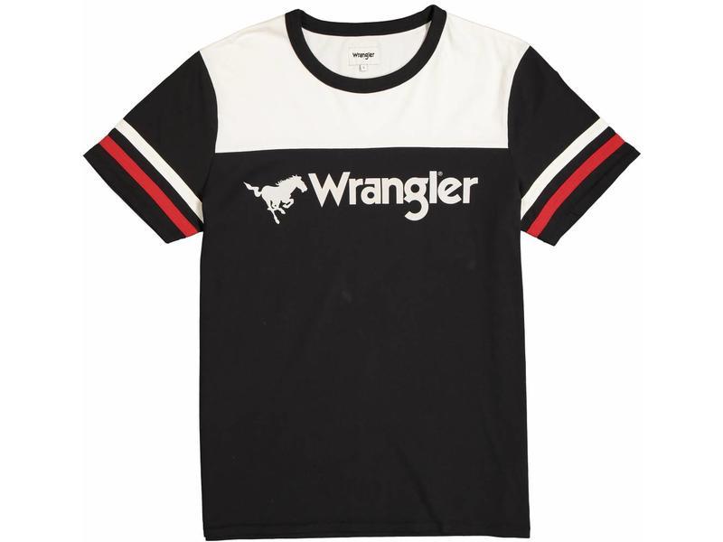 Wrangler Rugby tee zwart w7b85glv6