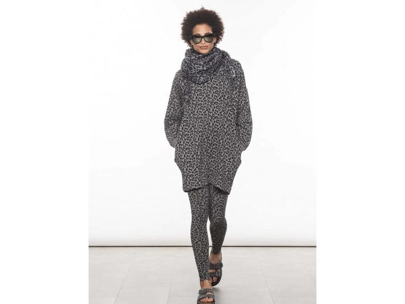 10Days Scarf leopard grijs 20-913-8103