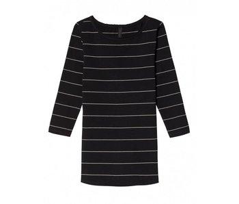 10Days Sleeve tee stripe zwart 20-780-8103