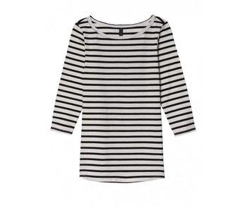 10Days Sleeve tee stripe wit 20-780-8103