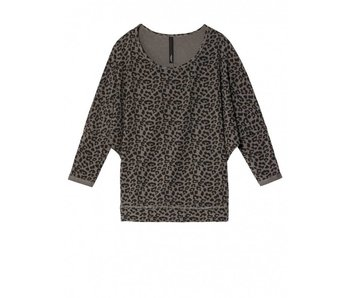 10Days Longsleeve leopard grijs 20-776-8103