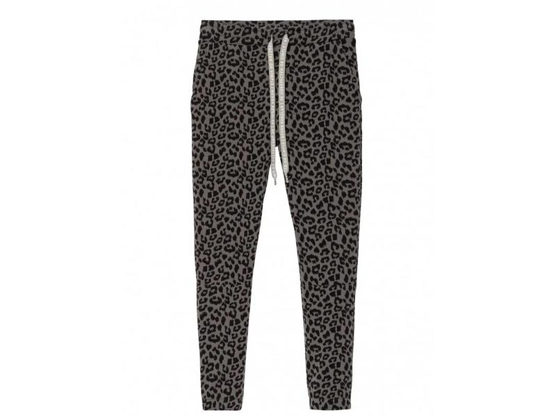 10Days Cropped jogger leopard grijs 20-018-8103