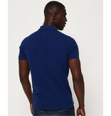 Superdry Classic s/s pique polo blauw M11001ER