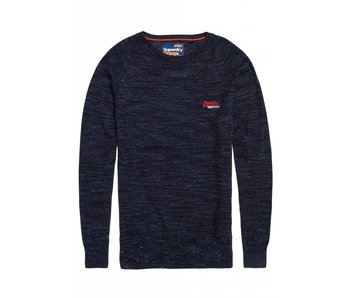Superdry Orange label cotton crew donkerblauw M61001GR