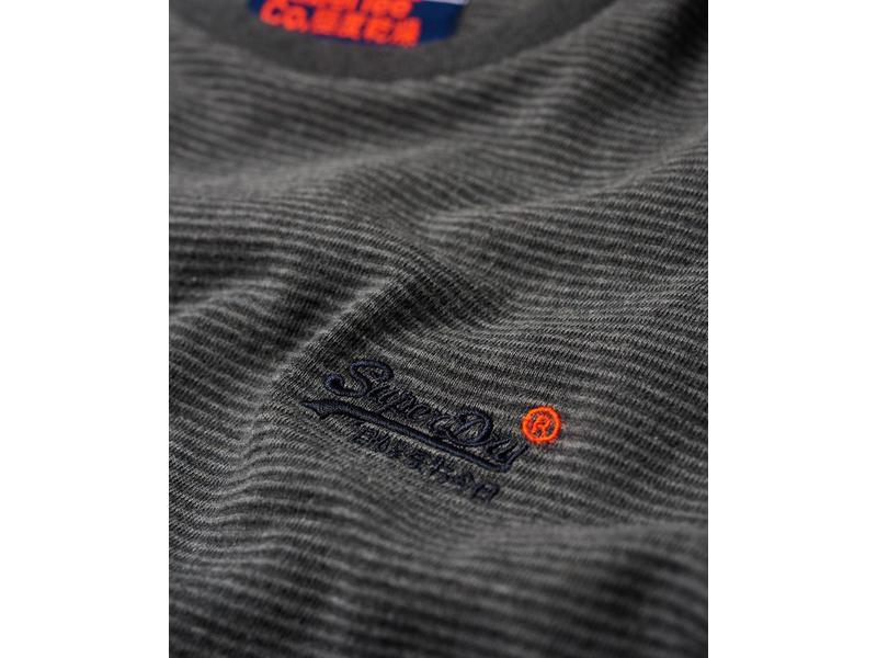 Superdry Orange label texture l/s tee grijs M60001MR