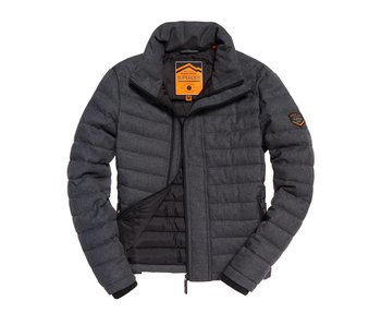 Superdry Tweed double zip fuji zwart M50010LR