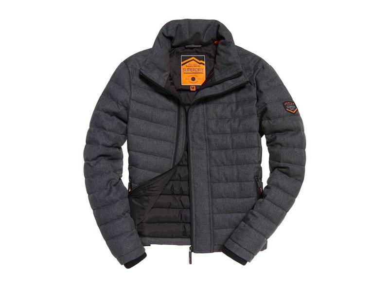Superdry Tweed double zip fuji zwart M50010LR