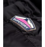 Superdry Fuji slim double ziphood zwart G50004LR