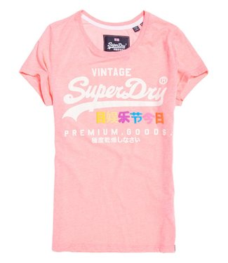 Superdry Premium goods puff entry tee roze G10016NS