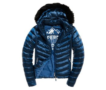 Superdry Hooded luxe chevron fuji donkerblauw G50005LR