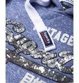 Superdry Shirt shop sequin entry hood blauw G20011TR