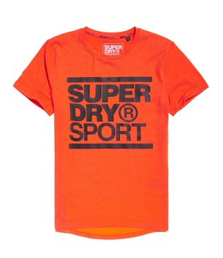 Core s/s graphic tee oranje MS3003RR