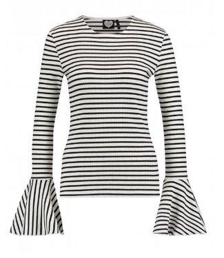 Longsleeve mono stripe off white 1702040608