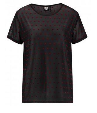 T-shirt je t'aime zwart 1802030233
