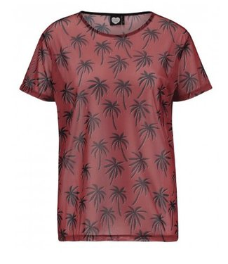 T-shirt about the palm trees rood 1802030203