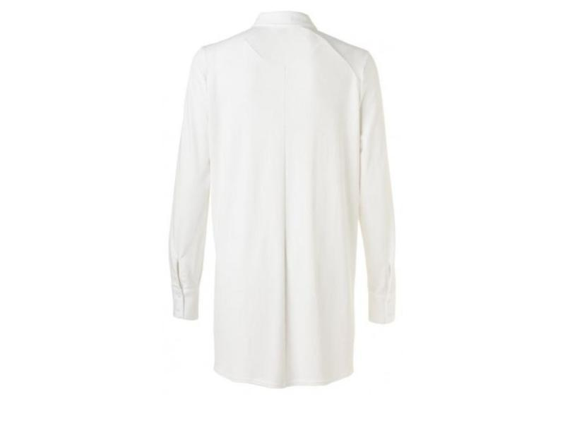 Yaya BLOUSE FITTED FABRIC MIX PURE WHITE 110115-822