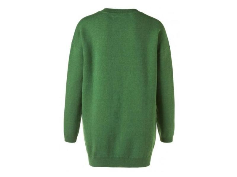 Yaya BIG OVERSIZED SWEATER BOTTLE GREEN 100028-822