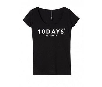 10Days Prome tee zwart 21-741-9900