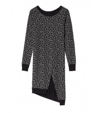 10Days Asymmetric dress leopard zwart 20-341-8103