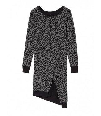 10Days Asymmetric dress leopard zwart 20-341-8103